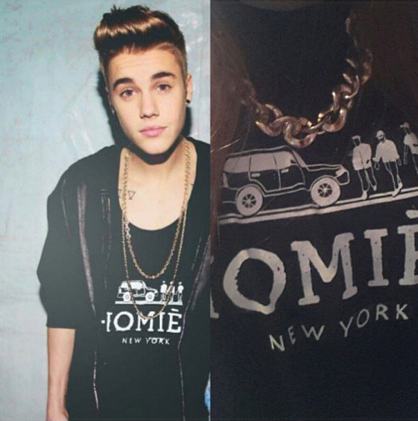 Bieber in our Homiés New York Tee. Also available at the Outpost.