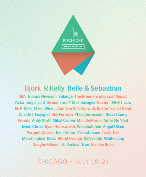 Set times are now available for this year's Pitchfork Music Festival.