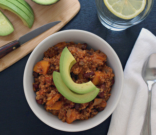 findvegan:  Sweet Potato & Quinoa  Chili