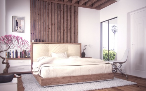 homedesigning:  Wooden Platform Bed