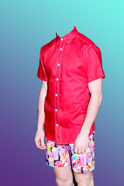 #FFF Spring / Summer 2013 Red Shirt Slushee Shorts http://look.fffmenswear.com