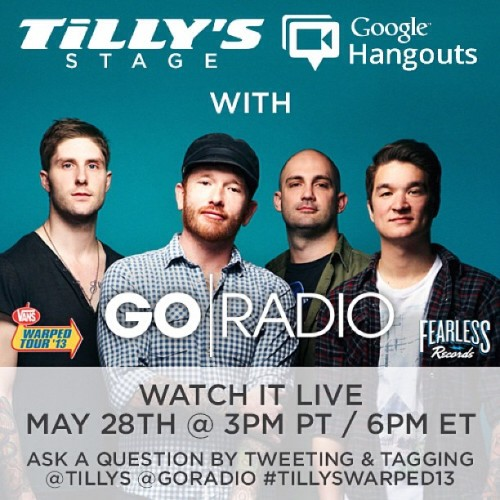 ONE WEEK until our @tillys Google+ Hangout with @ftskband and @warpedtour! Make sure you tweet us questions with #TILLYSWARPED13! http://bit.ly/119vkPy