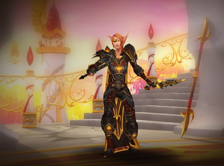 Nallie Female Blood Elf Rogue US Burning Legion [Other-Eye Patch] [Relentless Gladiator's Leather Spaulders] [Recovered Scarlet Onslaught Cape] [Wrathful Gladiator's Leather Tunic] [Malevolent Gladiator's Armwraps of Accuracy] [Wrathful Gladiator's Leather Gloves] [Wrathful Gladiator's Belt of Triumph] [Wrathful Gladiator's Leather Legguards] [Wrathful Gladiator's Boots of Triumph] [Namlak's Supernumerary Sticker] [Namlak's Supernumerary Sticker]