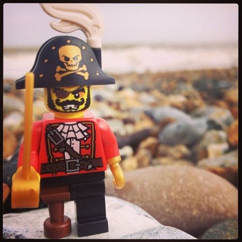 Pirate on California beach #lego #pirate #norfolk