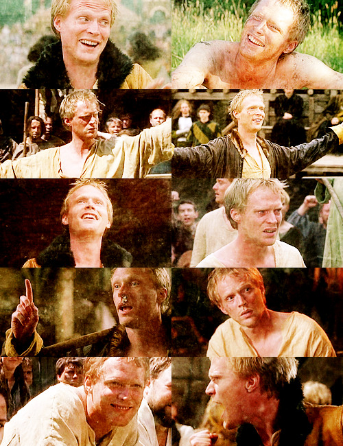 Paul Bettany as → Geoffrey Chaucer (A Knight's Tale)