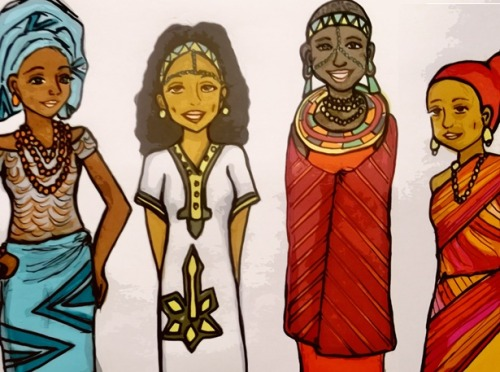 fuckyeablackart:  African women traditional dresses2 by ~takato1000