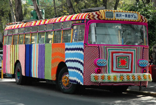 artpixie:  (via The Knitted Bus Cozy - Neatorama)