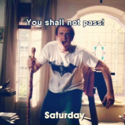 disc0liz:  Haha #yes ! #forgettingsarahmarshall #saturday #youshallnotpass #comedy #movie #jasonsegel