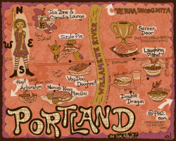 microtripit:  Holy food maps! Check out this awesome guide to PDX goodness by @ellenlindna