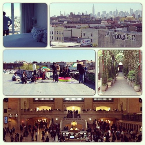Weekend in #nyc w @shamessless at @mondrianhotels w @ashleylafond #brooklyn #hipsters #hipsterroofparty #cityscapes