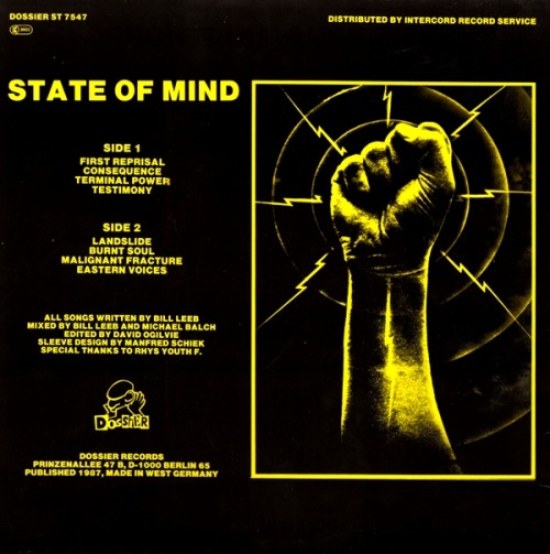 » FRONTLINE ASSEMBLY - 'STATE OF MIND' REVERSE » DOSSIER 1987