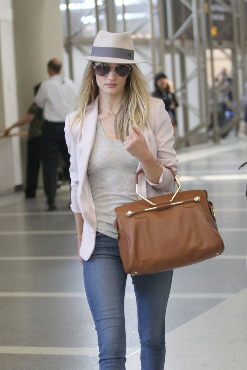 rosie-huntington:  Rosie Huntington-Whiteley at LAX airport - May 17, 2013