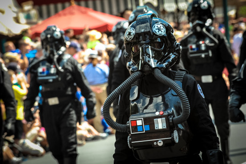 tiefighters:  Star Wars Weekends Parade at Disney Images by Josh Hallett