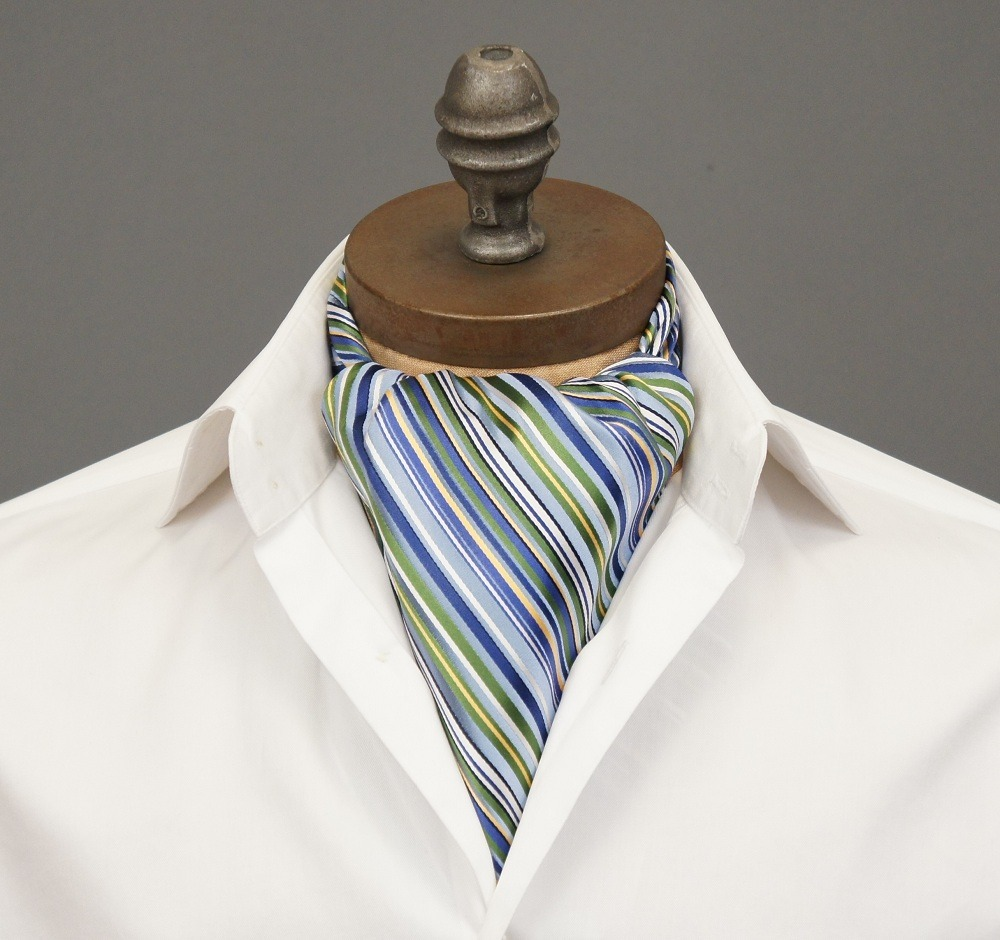 "ascottie:  New Ascot Arrival! Introducing the Kick Ascot Tie by Ceravelo. *Note: This ascot is ONE OF A KIND. If you click the link and it displays as ""Temporarily Unavailable,"" it has been sold. However you can request to be notified if/when we create more of this design."