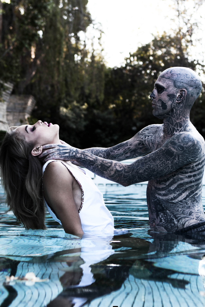 "Rick Genest and Jasmine Sanders ""Beauty & the Beast"""