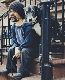 marcstyles:  Dinklage and his dog :)
