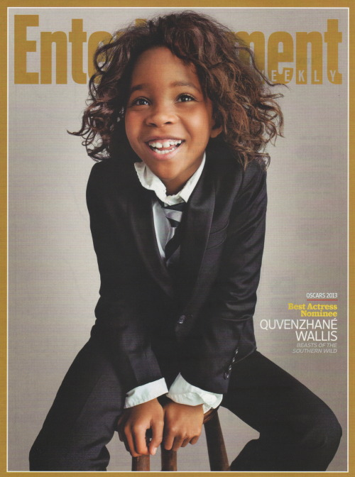 homagetobeauty:  Quvenzhane Wallis - Jan. 25/Feb. 1, 2013 issue of Entertainment Weekly - Special Double Issue - Oscar!