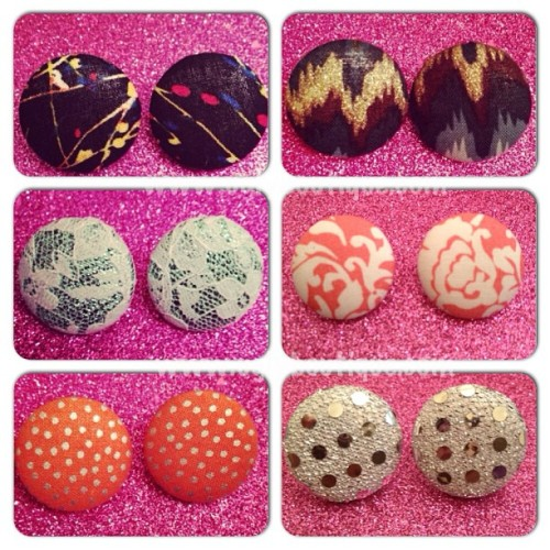 $5 Fabric Button Earrings @ www.uglyboutique.com #earrings #jewelry #fabric #fashion #ladies #love #completeyourlookhere #cute #casual #club #datenight #instafashion #style #accessories #women #instagood #boutique #uglyboutique #uglyfashion
