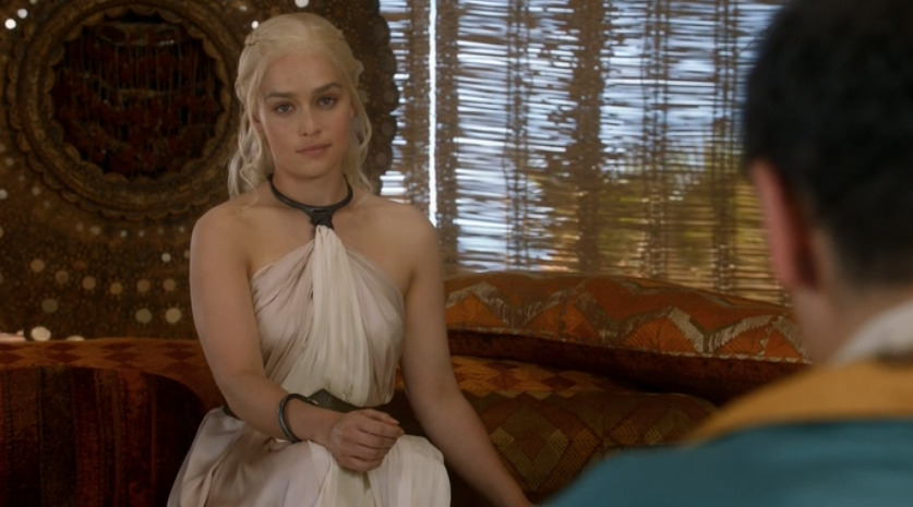 tsunderelly:  omfg i'm crying at the latest episode of Got because daenerys is listening to this guy and she's so tired of his bullshit and she looks directly at the camera like she's in an Office episode