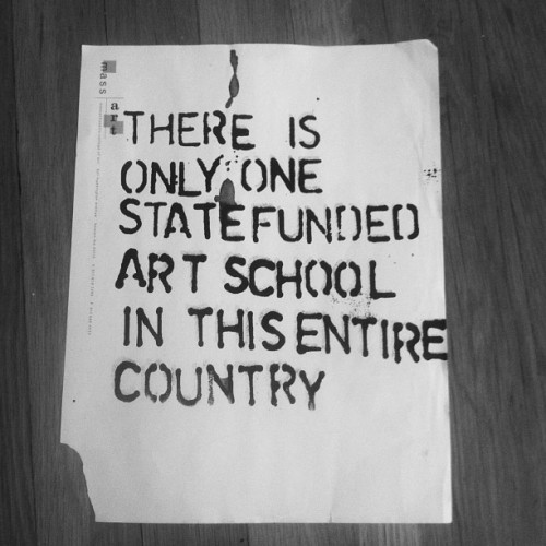 There is a state funded art high school and I graduated from there 5 years ago! crazy! It's Perpich Center for Arts Education.  Amazing school, if you are a high school student in MN and are seriously about perusing art, I would highly recommend you apply.Side note: This image pertains to MassArt, the only state COLLEGE for Fine Arts.