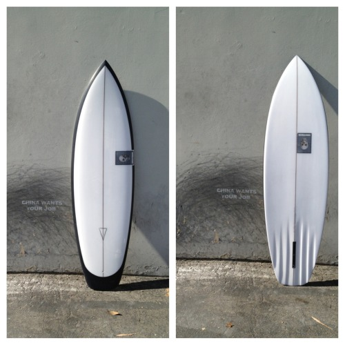 This board is our featured board of the month the ENDURO. The dimensions are 5'10 19 5/8 x 2 7/16 6 channel bottom. It's for sale straight from the factory $750 first come first serve.  If you are interested please email the factory to info@christensonsurfboards.com