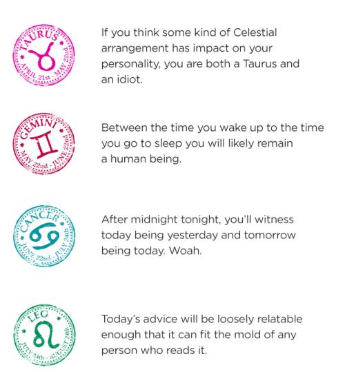 iraffiruse:  Your Daily Horoscope