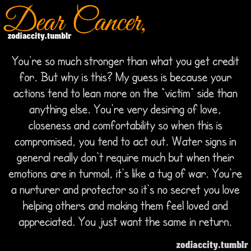 zodiaccity:  Dear Cancer….