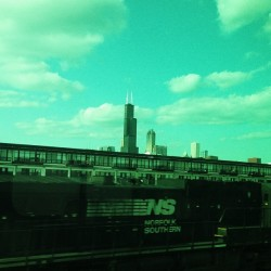 Two things I love: #trains & #chicago