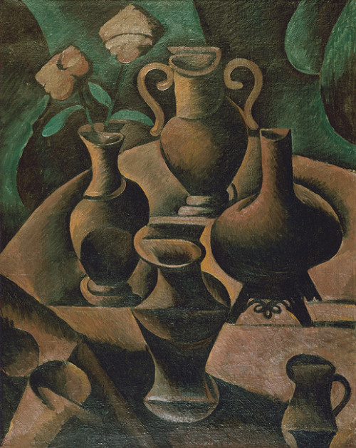 poboh:  Still life with vases, 1911, Bohumil Kubišta. Czech (1884 - 1918)