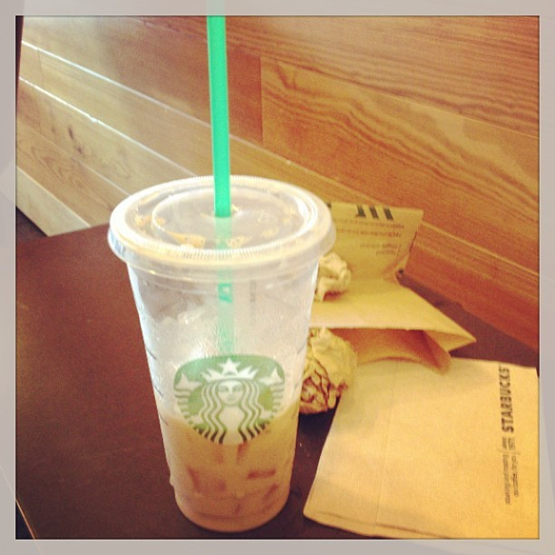 Iced venti soy chai latte. My new fave - thanks Gabey! (at Starbucks)