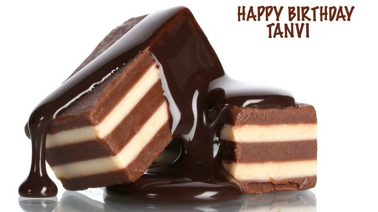 Happy Birthday Biscuit Cake For Tanvi
