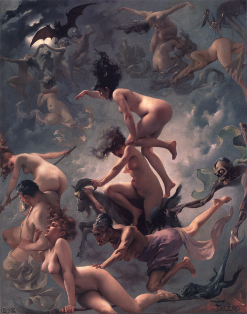 colourthysoul:  Luis Ricardo Falero - The Vision of Faust (The Departure of the Witches) (1878)