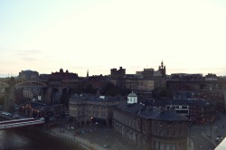 Newcastle from the Tyne Bridge.