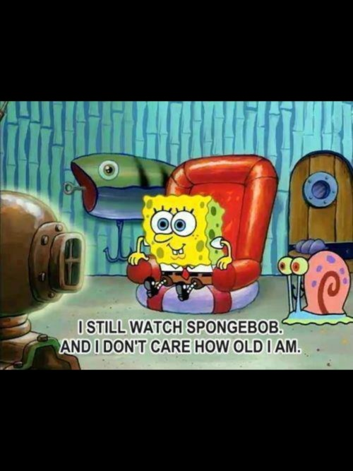 gracenanana:  Never too old for Spongebob. 😊❤