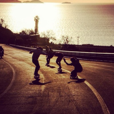 boardersboards:  #skate #skateboard #skateboards #pals #buddies #muckers #mates #sunset