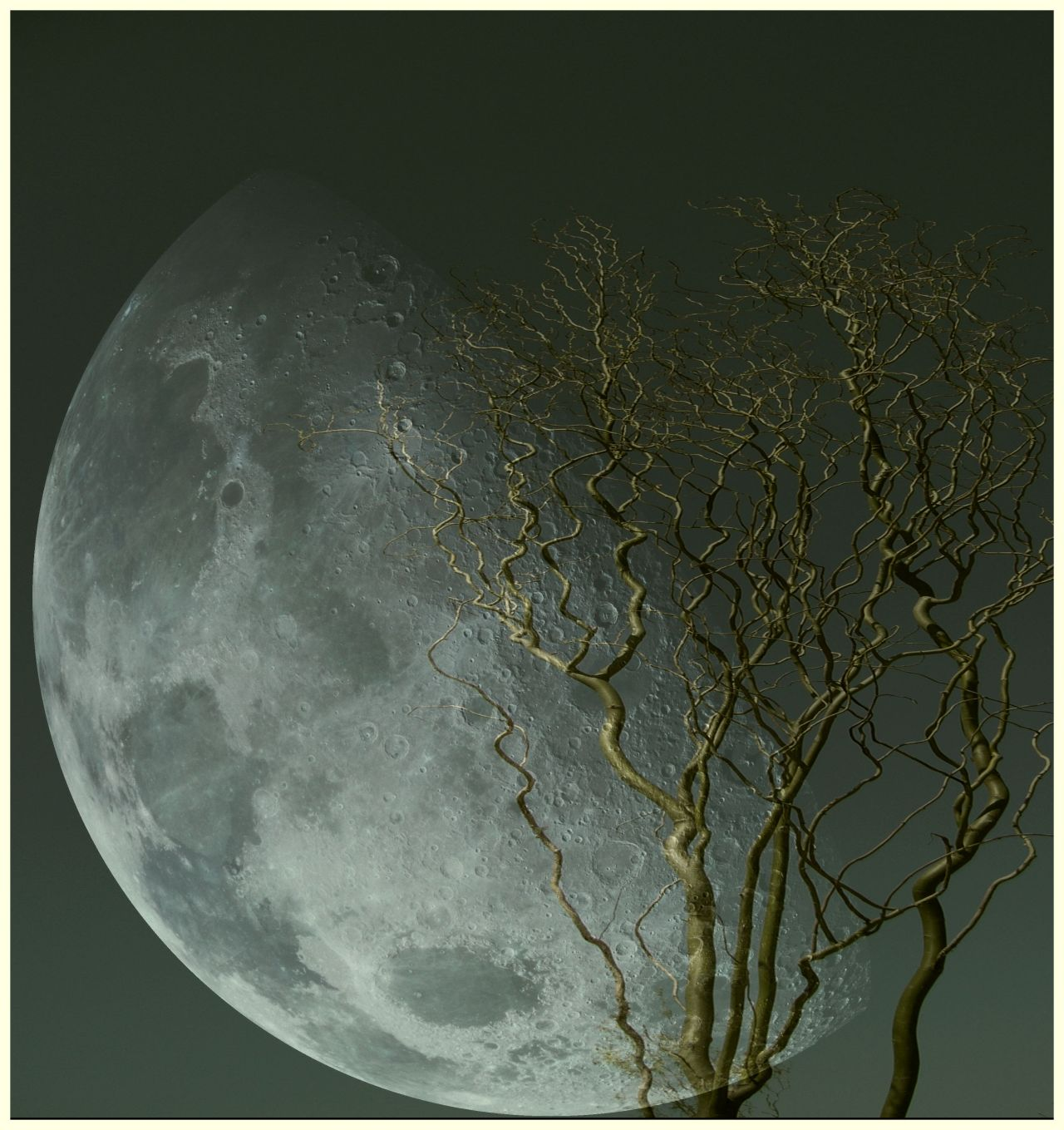 By yama-bato ©yama-bato,2013 double exposure Moon via