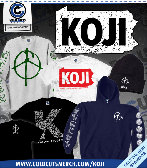 coldcutsmerch:  A bunch of new items just set live in Koji's store.  Go check him out on The Acoustic Basement tour.    There's a bunch of new gear I designed for KOJI up on the Cold Cuts site.