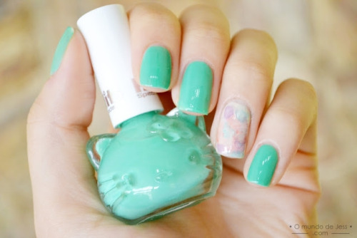 O Fantástico Mundo de Jess: esmaltaria: melon + watercolor on We Heart It - http://weheartit.com/entry/57304586/via/marynaoliveira
