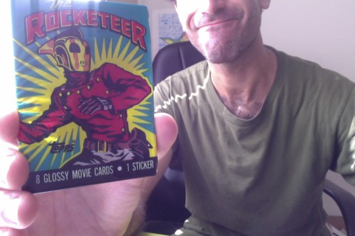 kidclampdown:  Casey sent me this rad pack of Rocketeer cards for my birthday. I was the Rocketeer for Halloween as a kid (because I liked the movie) and I've read all of the Dave Stevens Rocketeer comics. Thanks, Casey! And thanks to everyone who has already contributed to my Crisitunity. In one day, I've accrued over half of the funds that I need. I can't thank all of you enough. Please be patient while I get to the post office to ship out your pages and start working on the new batch of custom drawings. It might take some time, but I assure you - I'm here to work for you. Right now I'm projecting rolling the first several drawings off the assembly line on Tuesday. I'll blog about them and post them before I ship them out. Spread the word! I still need more money! And I still need more practice to become a good artist!