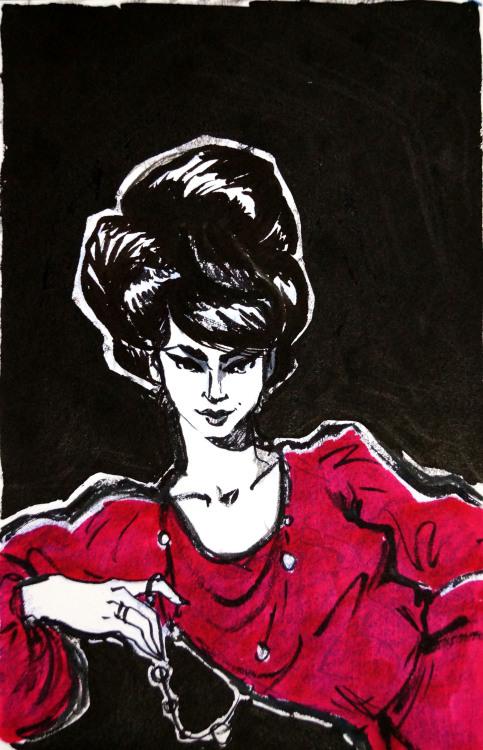 artbyjaney historic fashion 1960& 039;s illustration