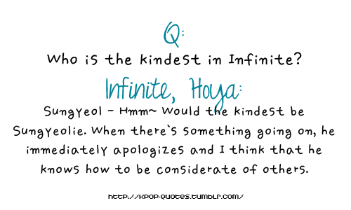 Who is the kindest in Infinite?