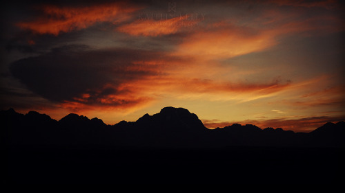 Sunset over the Tetons in Jackson Hole, Wyoming. —© 2013 Kaitlin KellyNikon D200 + 28mm lens