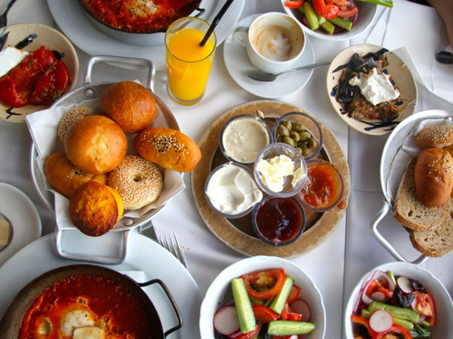 Everyone who has been to Israel knows about the  world famous Israeli breakfast…no better way to start the day!
