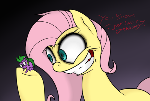 Oh wow look what happened!Silly Fluttershy, we all know you love Spike no matter what! Shes such a sweetheartI geuss we can thank Tiny Twi for this, Im sure Spike is grateful! (Go check em' out!)