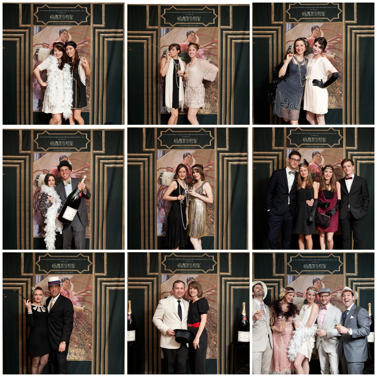 Great Gatsby photo booth fun