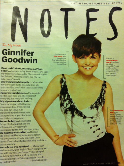 "fellow terrier ginnifer goodwin on growing up in memphis: ""my mother always taught me to be a lady first. my go-to conflict resolution tactic, aside from honesty, is kindness."" -LHJ"