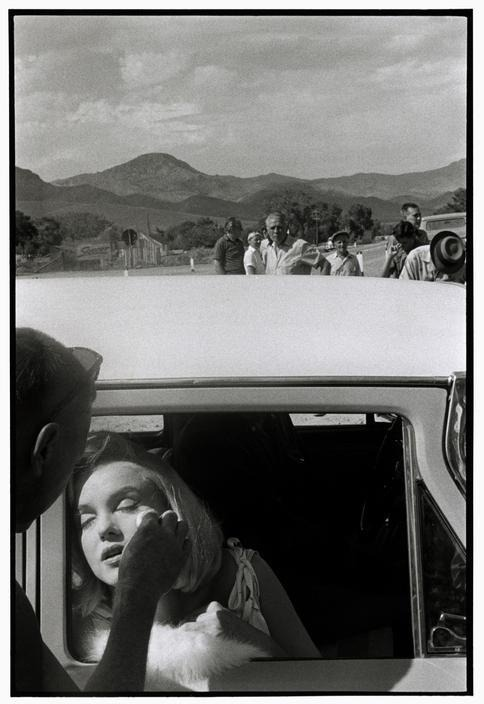 Marilyn Monroe photographed by Bruce Davidson during the filming of the Misfits in 1960
