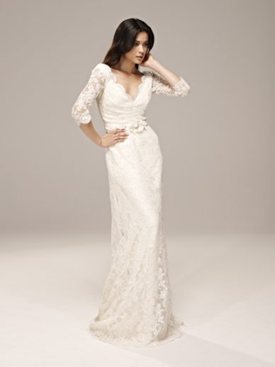 kredentis:  Designed by Collette Dinnigan http://www.bride.com.au/wedding-fashion/gowns/sheath-wedding-dresses/collette-dinnigan