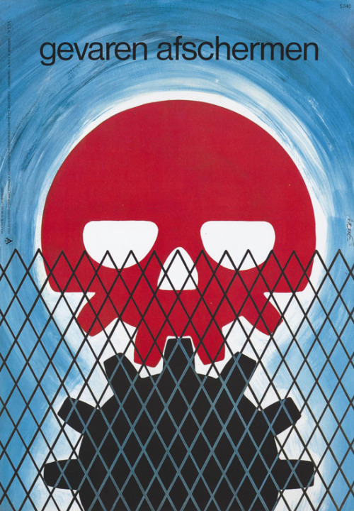 (via Vintage Safety - 50 Watts)  1975, poster by Frans Mettes via Memory of the Netherlands