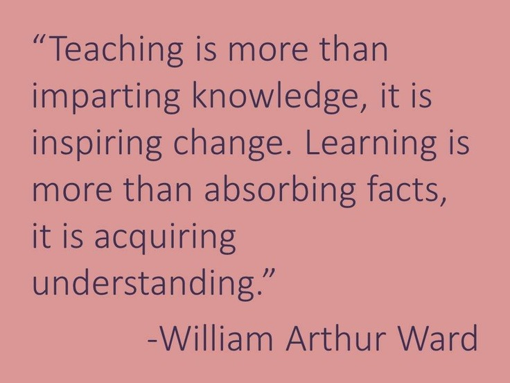 thankyoueducators:  Teaching is more than imparting knowledge. Love this.